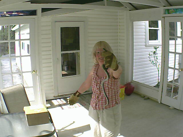 Mark's wife likes to wave to him over their Sensr.net cameras.